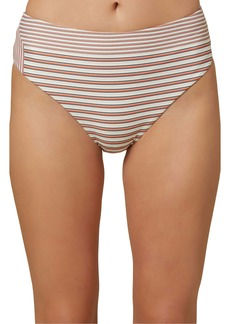 O'Neill Sunray Stripe High Waist Bikini Bottoms