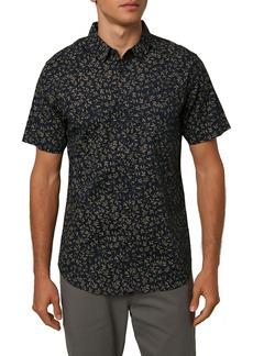 O'Neill Tame Modern Fit Leaf Print Short Sleeve Button-Up Shirt