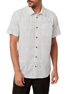 O'Neill Tame Slim Fit Stretch Short Sleeve Button-Up Shirt
