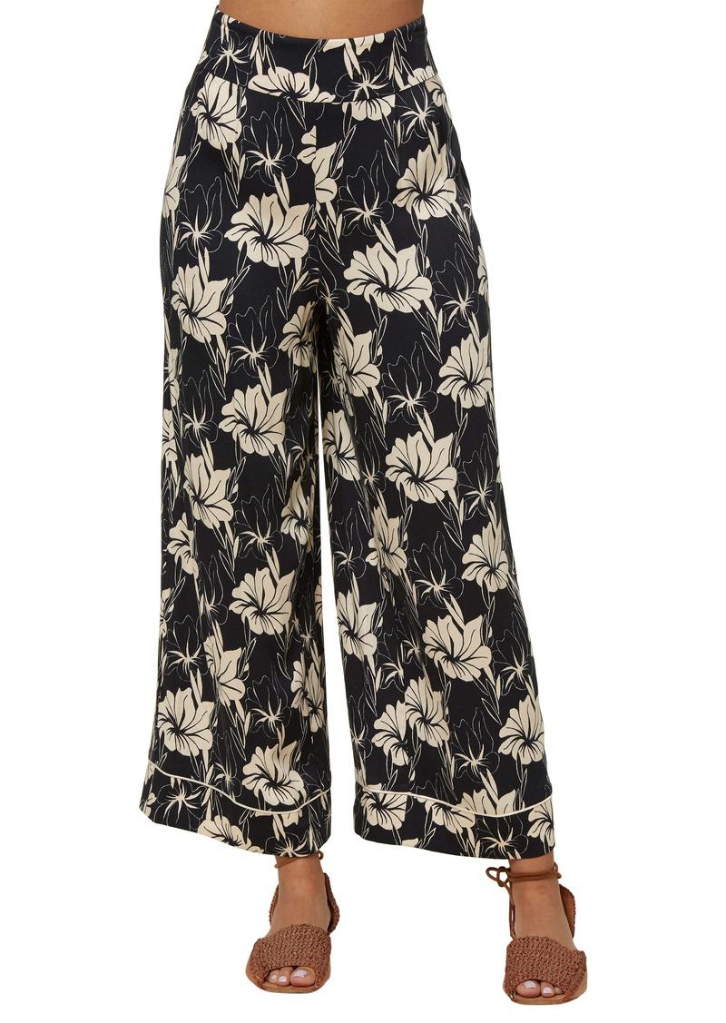 O'Neill Typhoon Floral Print Wide Leg Pants