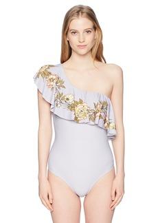 O'Neill Women's Aloha Floral Ruffle 1 Piece Swimsuit  XL