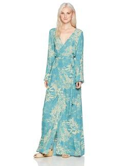 O'Neill Women's Cambria Maxi Wrap Dress  M