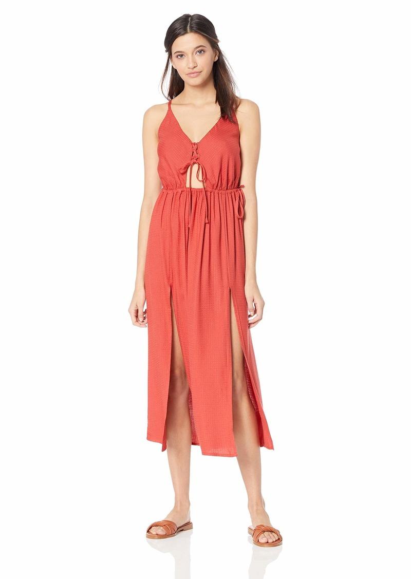 O'NEILL Women's Cory Midi Open Back Cover Up Dress  L