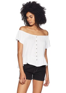 O'NEILL Women's Farrah Solid Off The Shoulder Top  XL