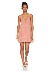 O'Neill Women's Franco Key Hole Front Dress Dusty Pink-Apt M
