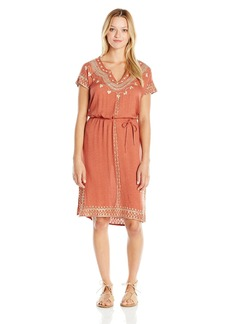 O'Neill Juniors Alyssa Woven Printed Dress with Embroidery
