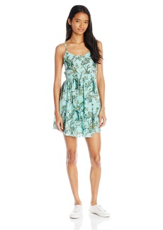 O'Neill Women's Juniors Erica Cross Back Woven Printed Dress