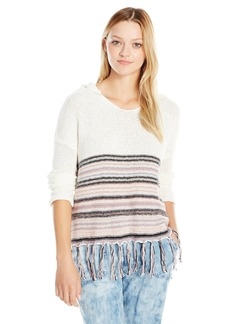 O'Neill Junior's Erin Stripe Pullover Sweater with Fringe Winter  Medium/Large