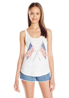 O'Neill Juniors Old Glory Americana Tropics Graphic Tank Top