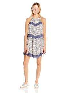 O'Neill Juniors Renee Printed Halter Dress