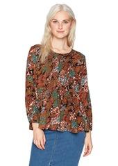 O'Neill Women's Lavinia Woven Long Sleeve Top Multi Clr-MUL XS