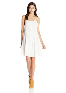 O'Neill Women's Juniors Malinda Woven Dress with Criss Cross Back Straps