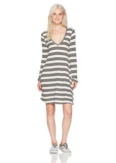 O'Neill Women's Margot Knit Long Sleeve Dress White/White M