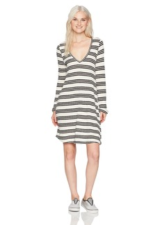 O'Neill Women's Margot Knit Long Sleeve Dress White/White L