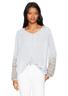 O'Neill Women's Mariana Embroidered Long Sleeve Top White/White M