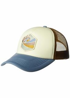 O'Neill Women's Mesh Back Adjustable Trucker Hat Faded Denim/Marigold