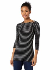 O'NEILL Women's Millie Stripe Knit Dress with Cut Out Detail  L