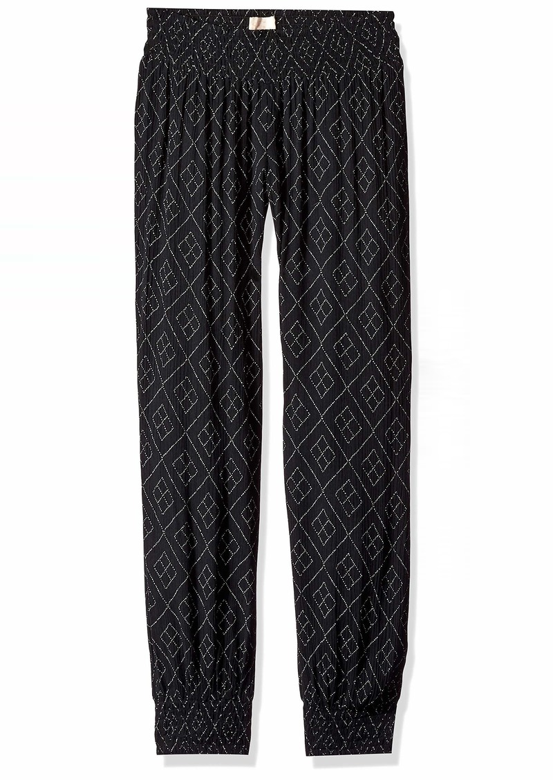 O'Neill Women's Night Flare Woven Pant with Smocked Waistband  S
