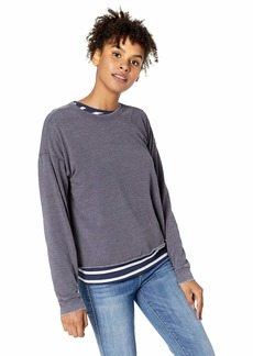 O'Neill Women's Ophelia Fleece Pullover with Raw Edge  L