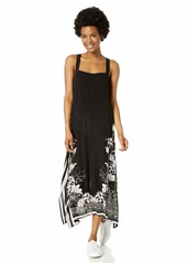 O'NEILL Women's Racerback Long Length Midi Dress Black/Landon