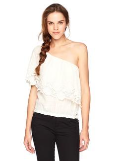 O'NEILL Women's Sabrina One Shoulder Ruffle Top  XL