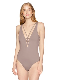 O'Neill Women's Salt Water Solids Macrame One Piece Swimsuit  S