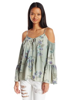 O'Neill Junior's Taavi Cold Shoulder Floral Blouse  M