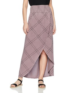 O'Neill Women's Tamarinda Smocked Waist Maxi Skirt Queens wash/Qns S