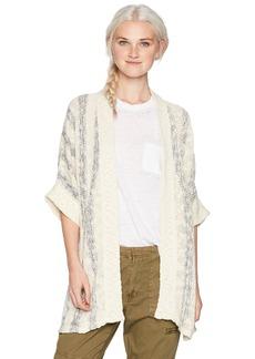 O'Neill Women's Taos Short Sleeved Cardigan Sweater  M