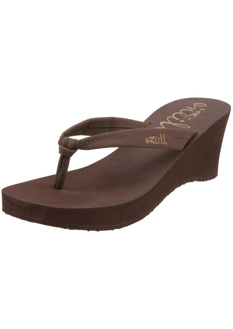 O'NEILL Women's Tiki Ti Wedge Flip Flop M US