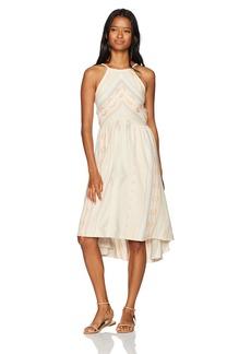 O'Neill Women's Uli Chevron Print Dress Dusty Pink-Apt M
