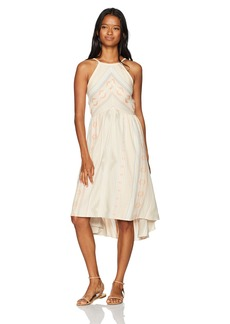 O'Neill Women's Uli Chevron Print Dress Dusty Pink-Apt S