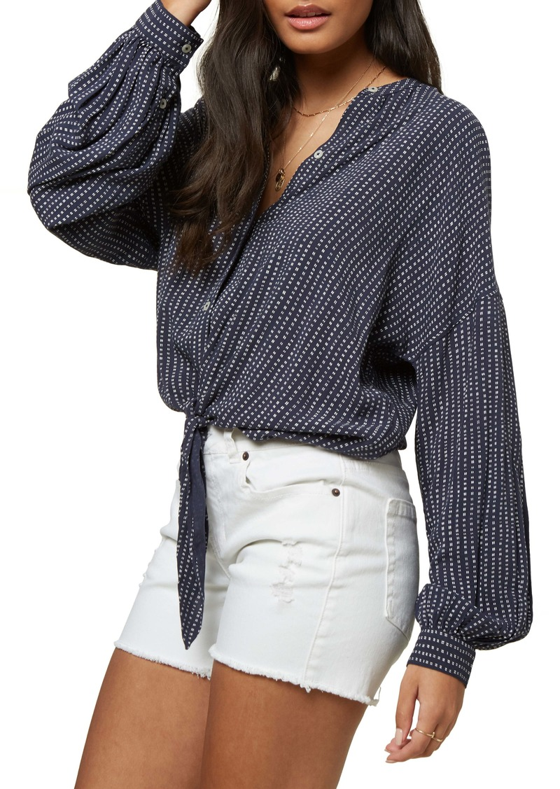 O'Neill Yasha Tie Front Woven Blouse