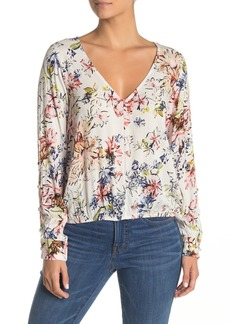 O'Neill Starling Floral Print V-Neck Top