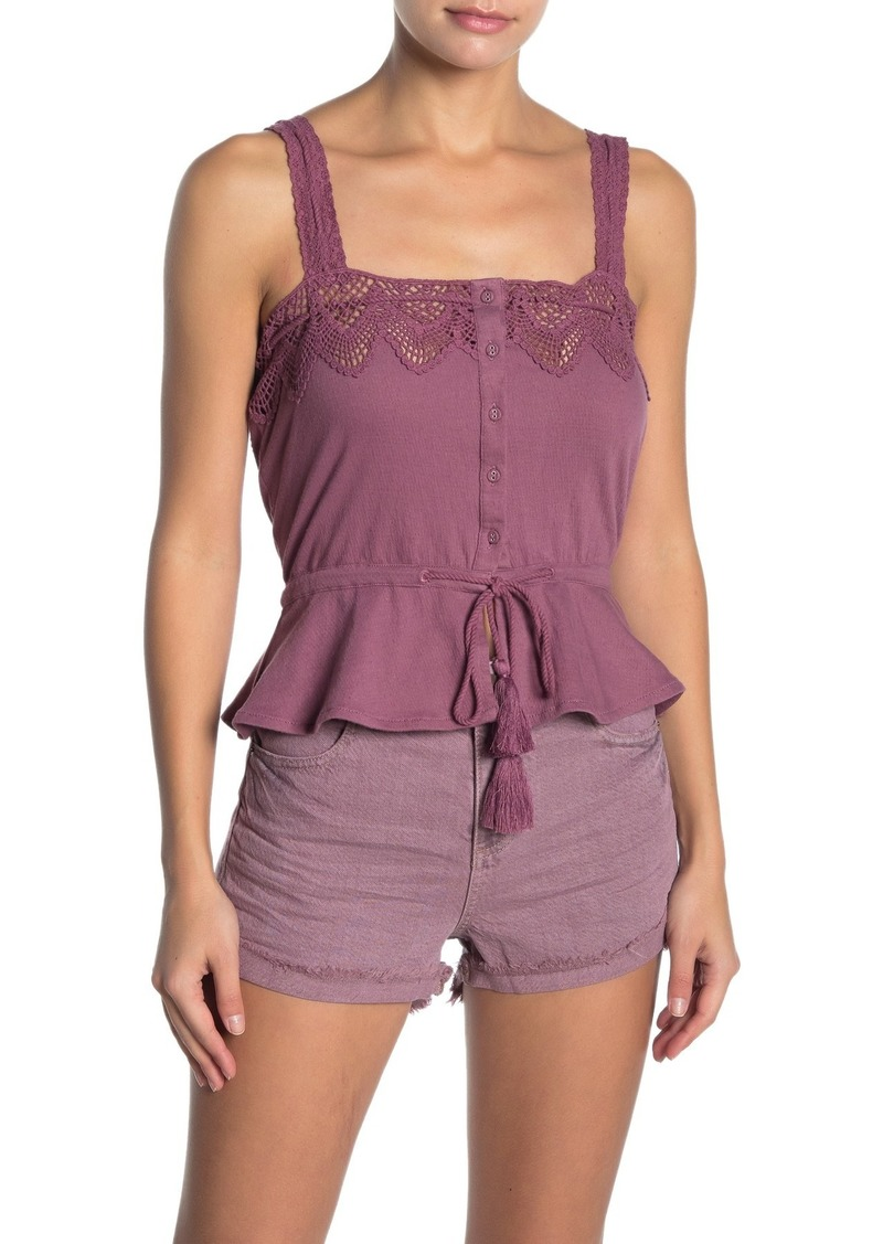 O'Neill Sun Lover Crochet Trim Tank Top