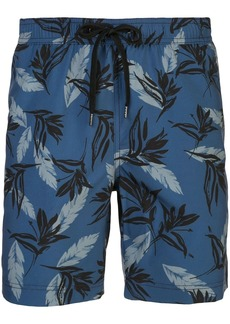 Onia Charles tropical leaf print swimming trunks