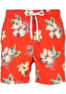 Onia Charles hibiscus floral print swim shorts