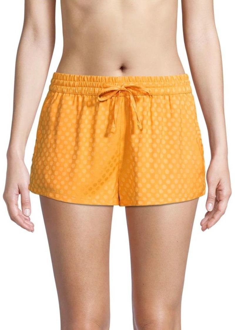 Onia Aleen Printed Drawstring Cover-Up Shorts