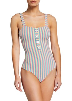 Onia Archie Striped One-Piece Swimsuit