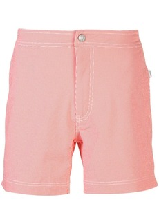 Onia Calder gingham swim shorts