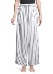 Onia Chloe Striped Wide-Leg Pants