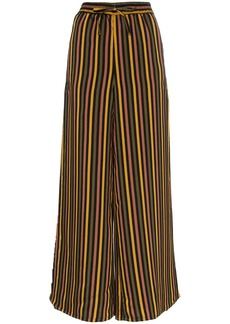 Onia Chloe striped wide leg trousers