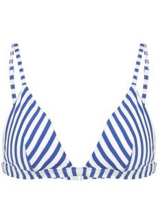 Onia striped bikini top
