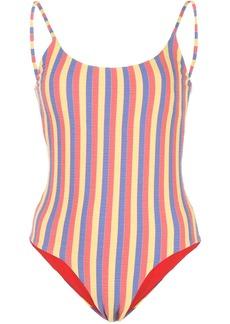 Onia Gabrielle striped print swimsuit