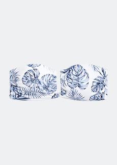 Onia Genevieve Palm Leaves Bikini Top - L - Also in: XS, S, M