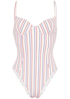 Onia Isabella striped swimsuit