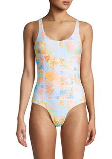 Onia Kelly Palm Island One-Piece Swimsuit