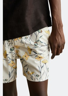 """Onia Elastic Calder 6"""" Chambray Floral Swim Trunks - XL - Also in: M, L, XXL, S"""