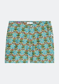 "Onia Liberty Coral Vines Elastic Calder 6"" Swim Trunks - L - Also in: XXL, XL, S"