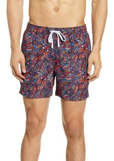 Onia Butterfly Print Swim Trunks